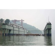 7800 floating dock barge